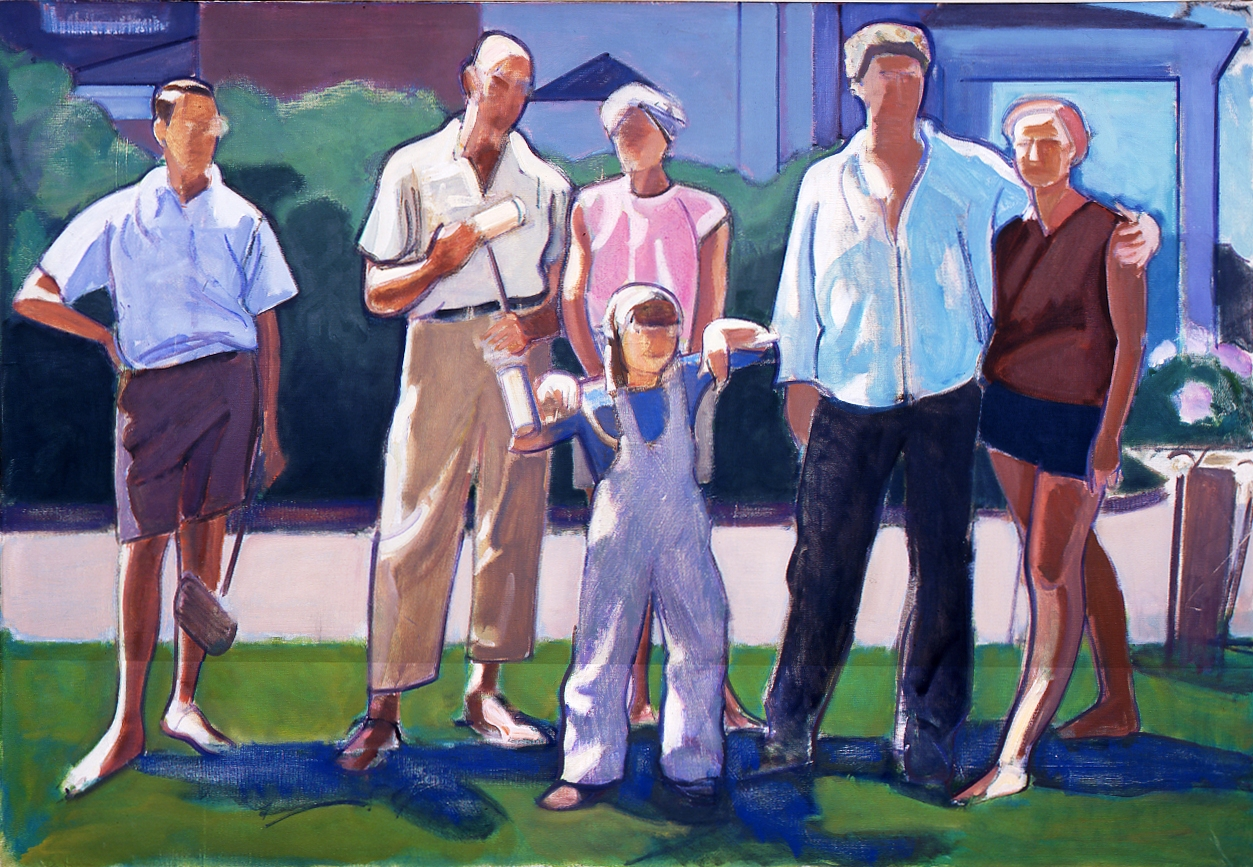 Leland Bell, Croquet Party (1965)