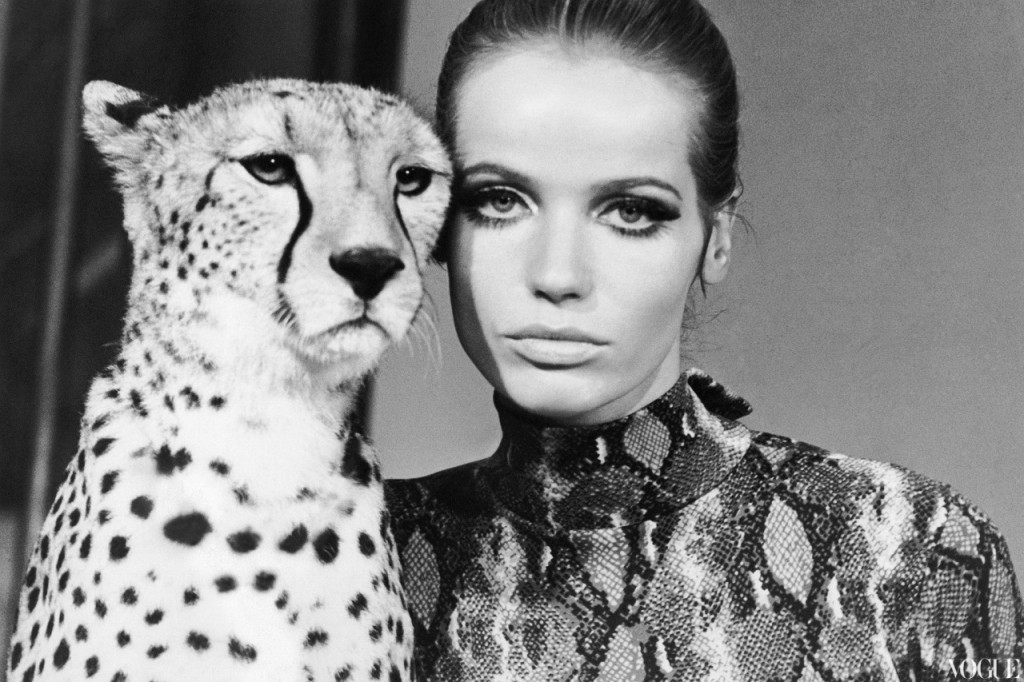 "William Klein, ""Veruschka with Cheetah"" (1967)"