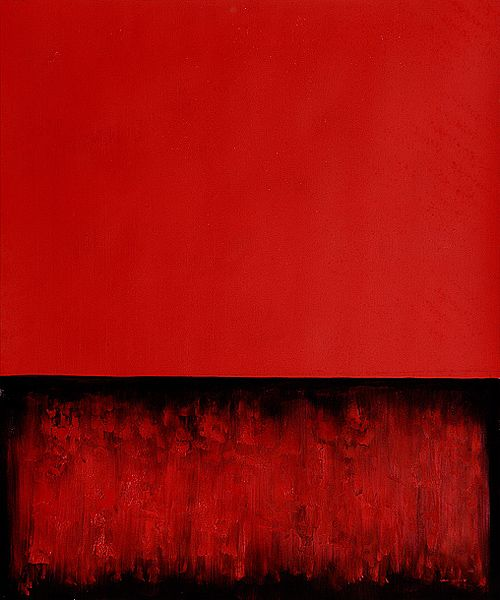 Mark Rothko Unled Painting In Red And Black